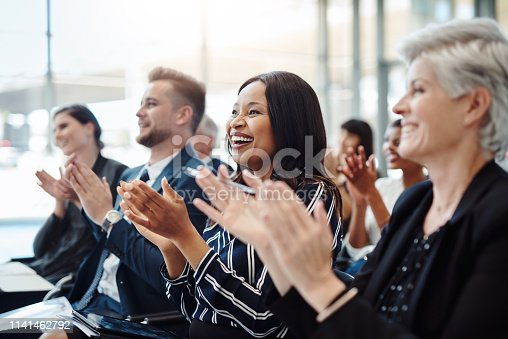 istock Get the team inspired and give them some good news 1141462792