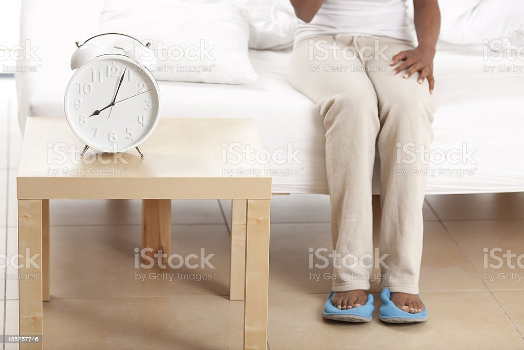 Get up right away. stock photo
