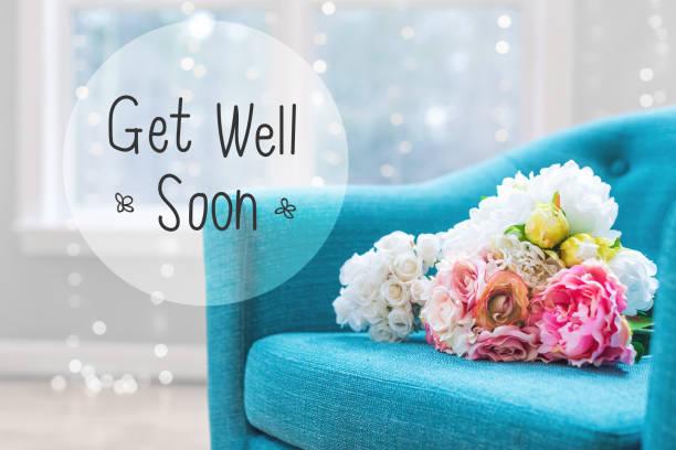 Faire passer un message bien avec des bouquets de fleurs avec chaise - Photo