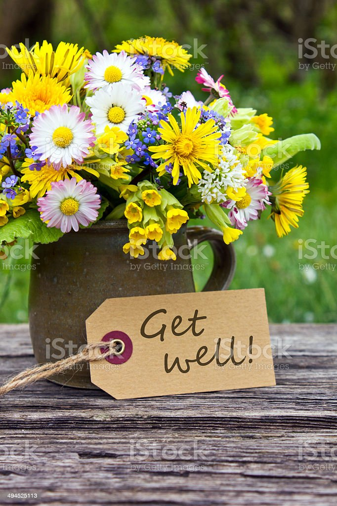 Get well stock photo