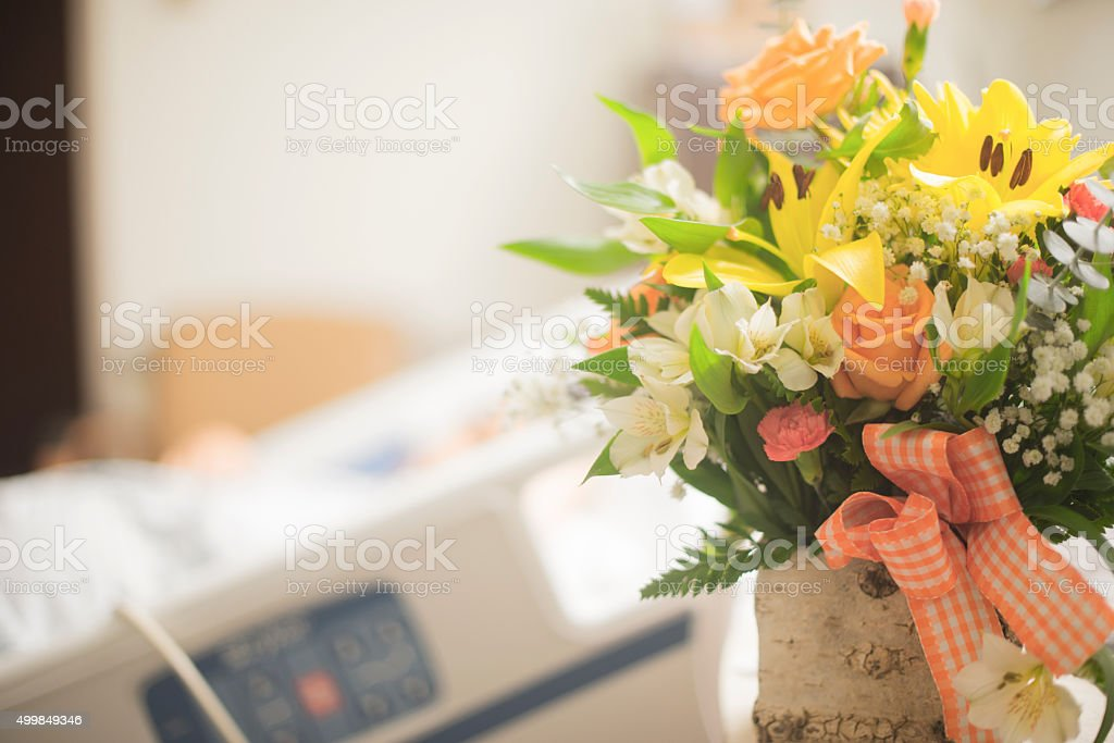 get well soon flowers stock photo