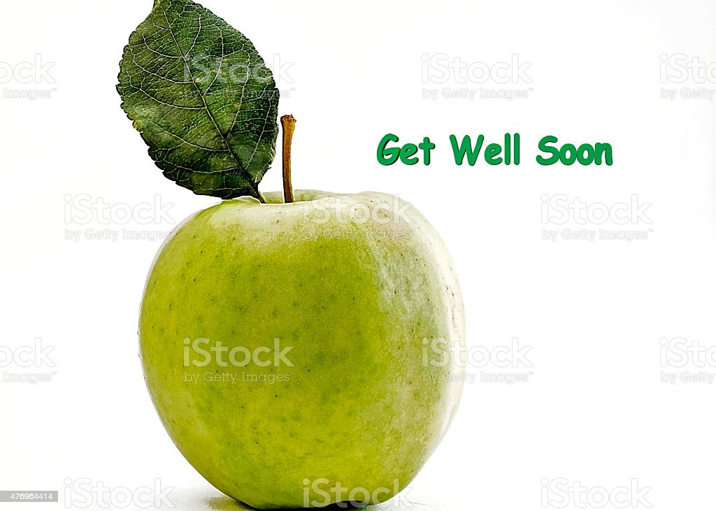 get well soon, Granny Smith stock photo