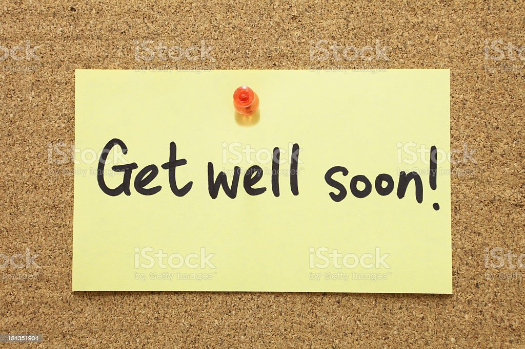 Get Well Soon royalty-free stock photo