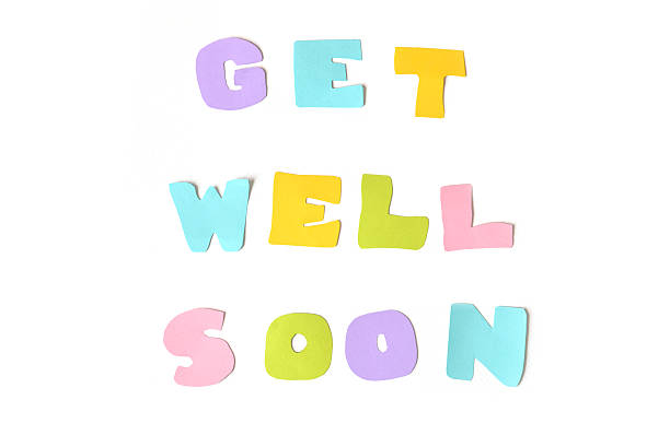 Get well soon text on white background - Photo