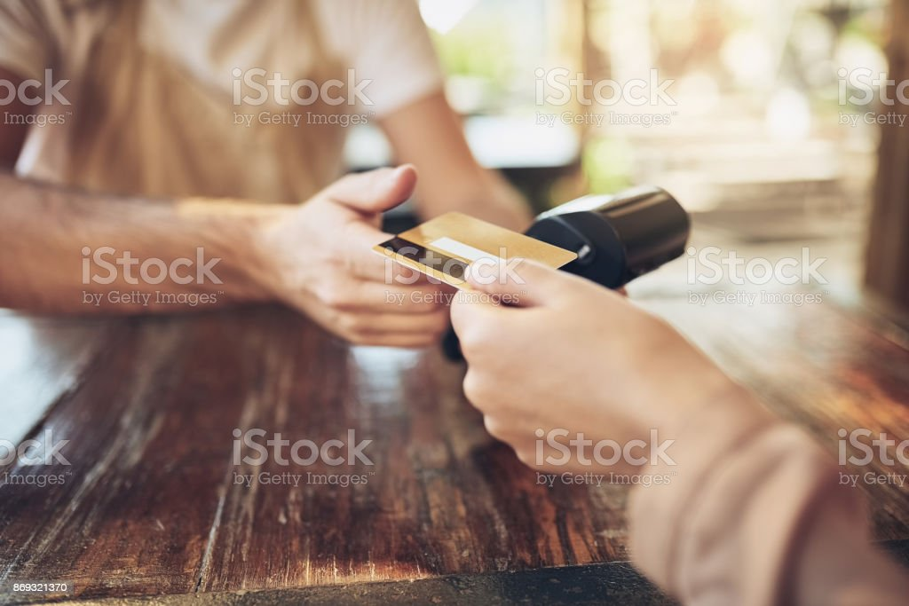 Get with the bank that works for you stock photo