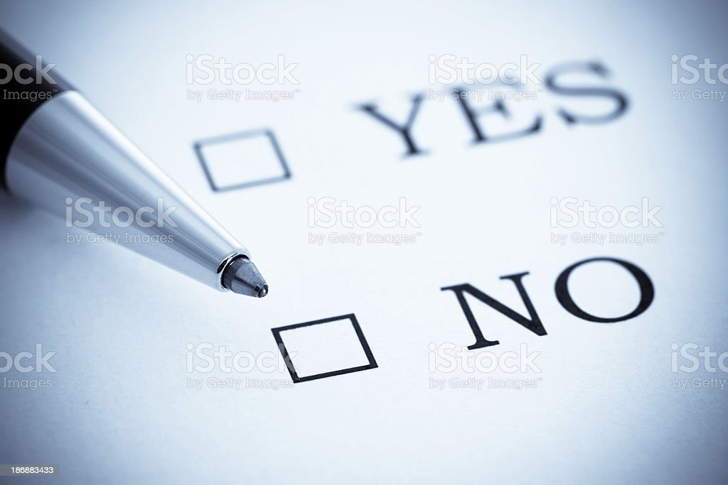 Get your Decision, Yes or No stock photo