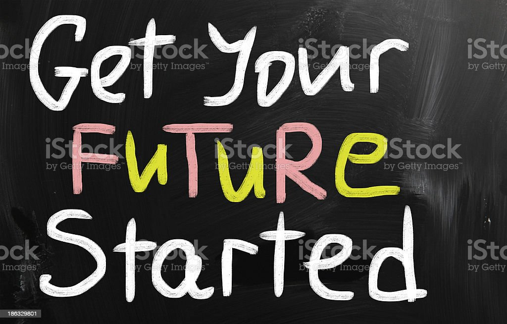 Get your future started concept royalty-free stock photo