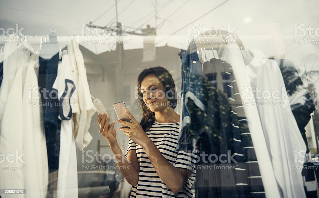 Get your shop on stock photo