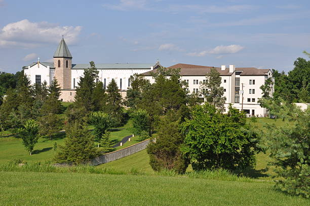 Gethsemani Abbey Wide View stock photo
