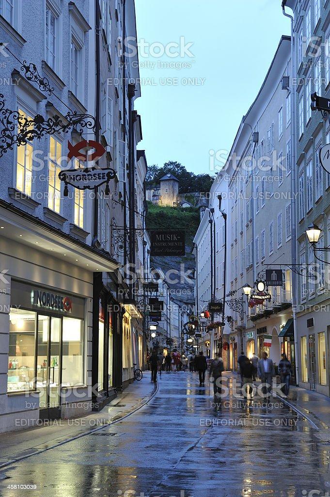 Getreidegasse in Salzburg royalty-free stock photo