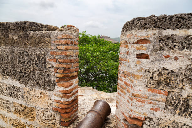 getsemani cannons - cartagena museum stock photos and pictures