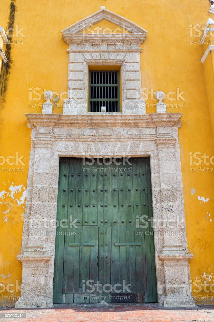 Getsemani Church Door stock photo