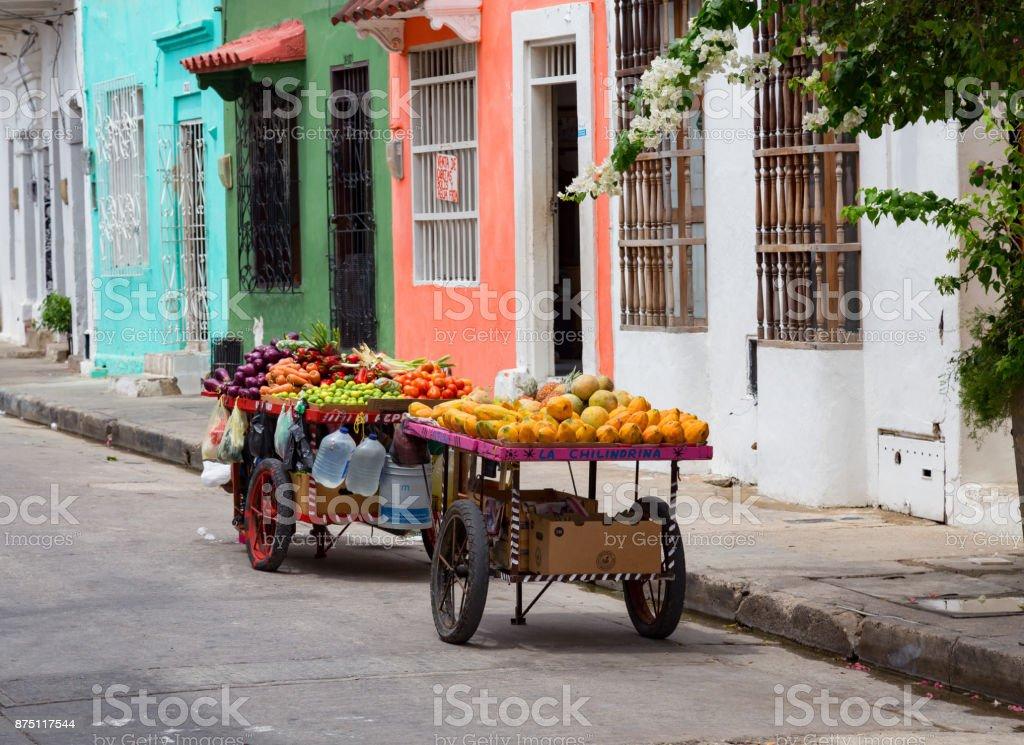Getsemani Fruit Cart stock photo