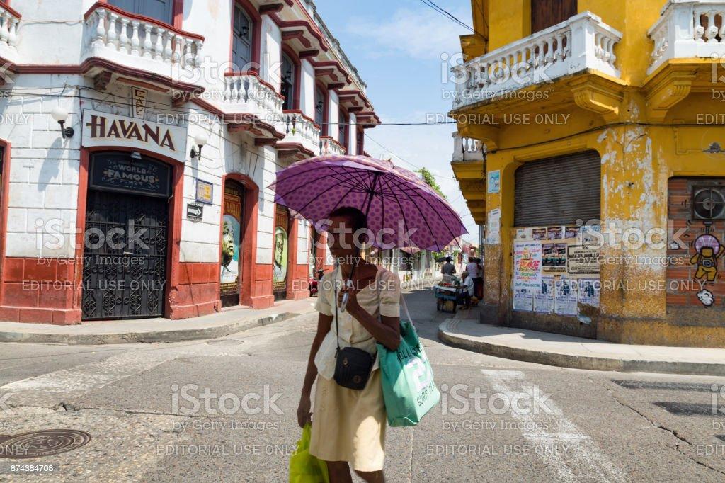getsemani street stock photo