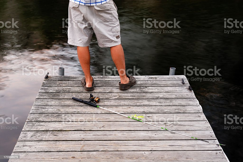 Gettin' ready to fish! royalty-free stock photo