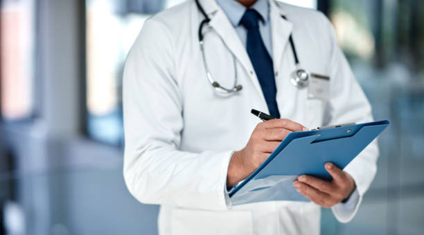 Getting a detailed medical history for the best treatment possible stock photo