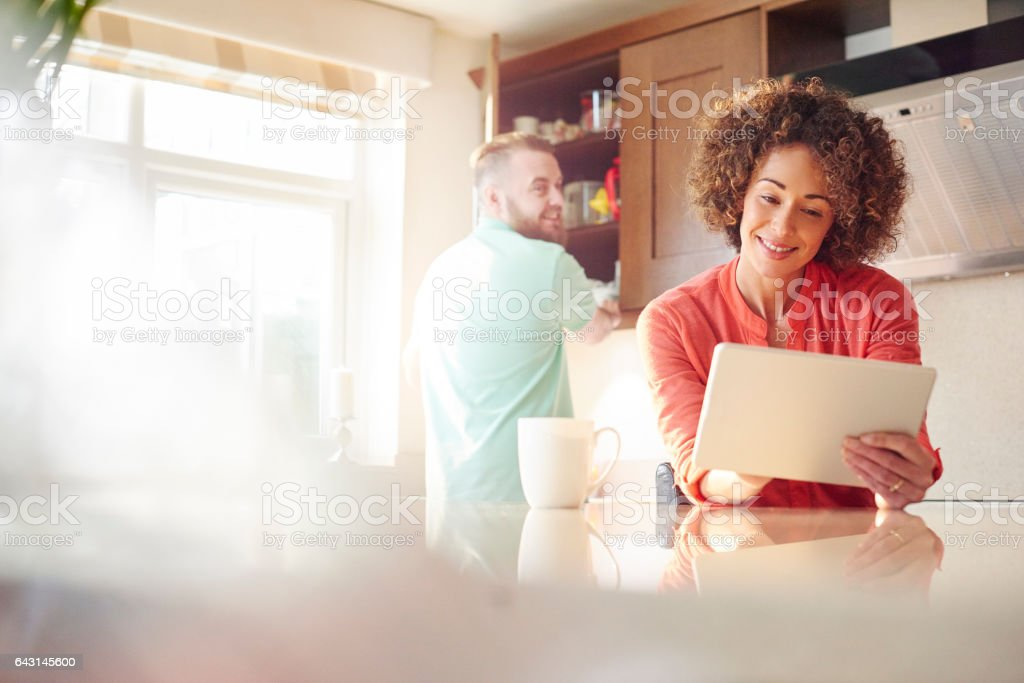 getting a great deal online stock photo