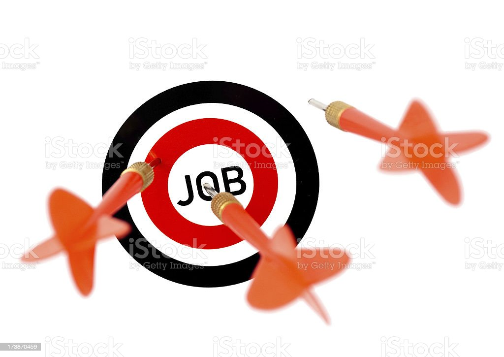 Getting a job royalty-free stock photo