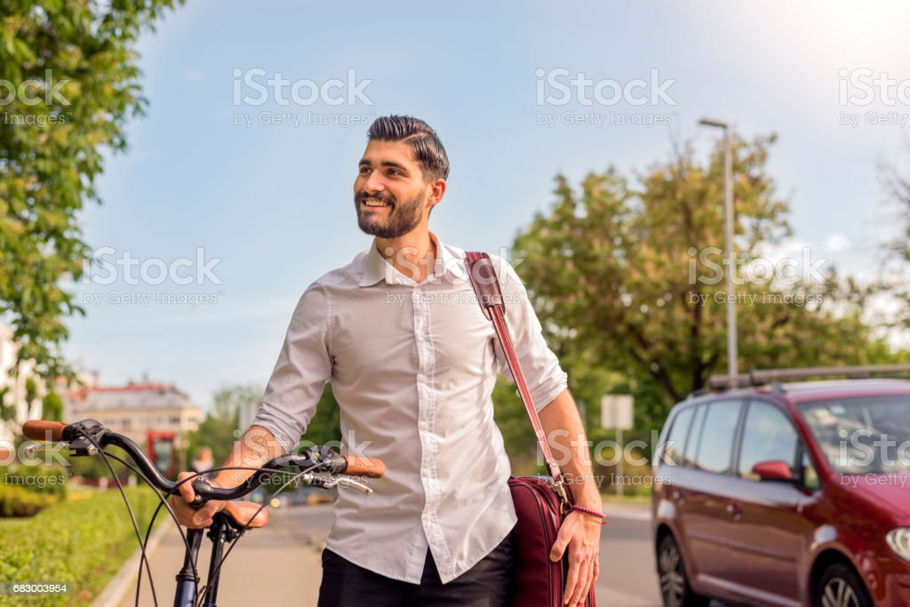 Getting a moving start on the day foto de stock royalty-free