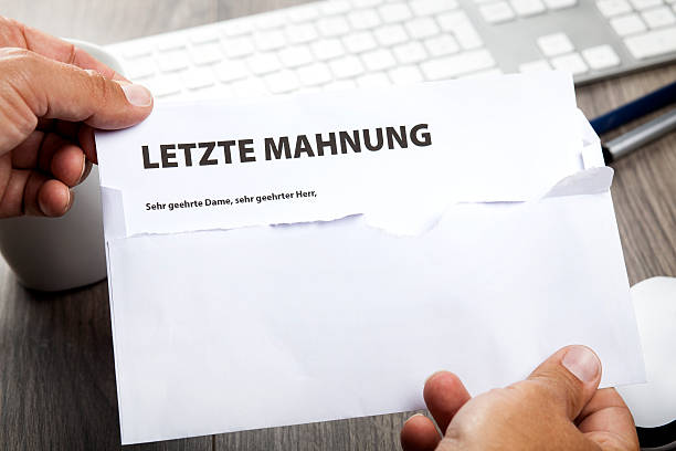 Getting A Past Due Reminder Notice In German Letzte Mahnung