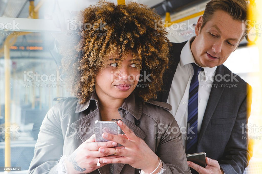 Getting a sneak peek stock photo