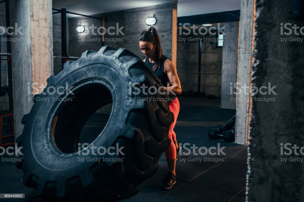 Getting a total body workout stock photo