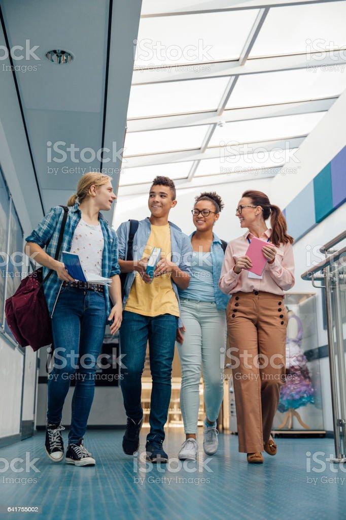 Getting A University Tour stock photo