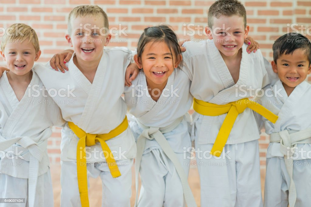 Getting a Yellow Belt stock photo