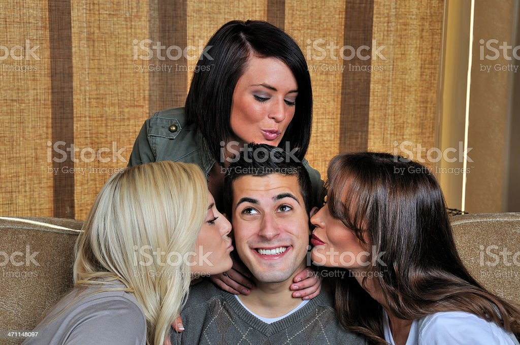 Getting All The Attention And Loving It! stock photo