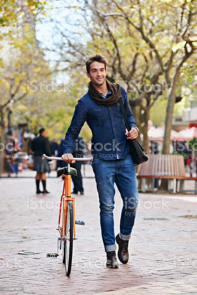 Getting around in style stock photo