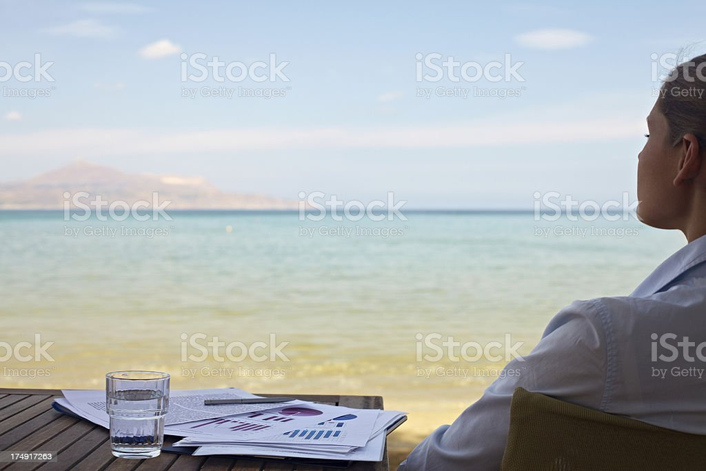 Getting away from deeds royalty-free stock photo