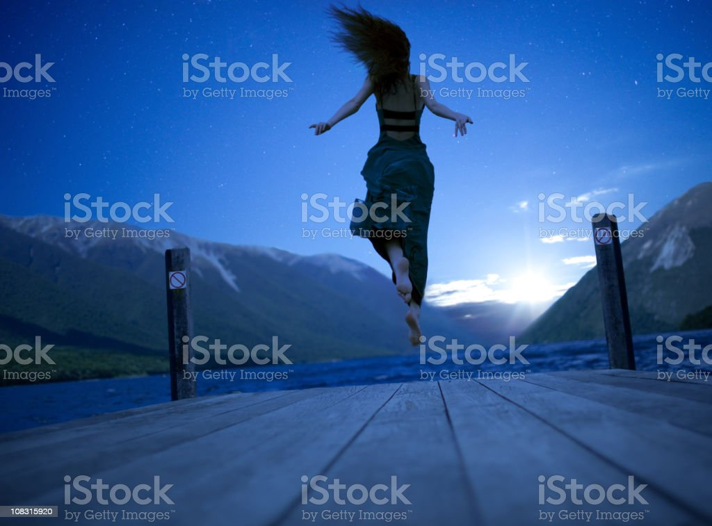 Getting away from it all stock photo