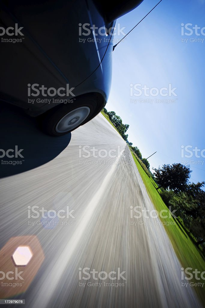 Getting away royalty-free stock photo