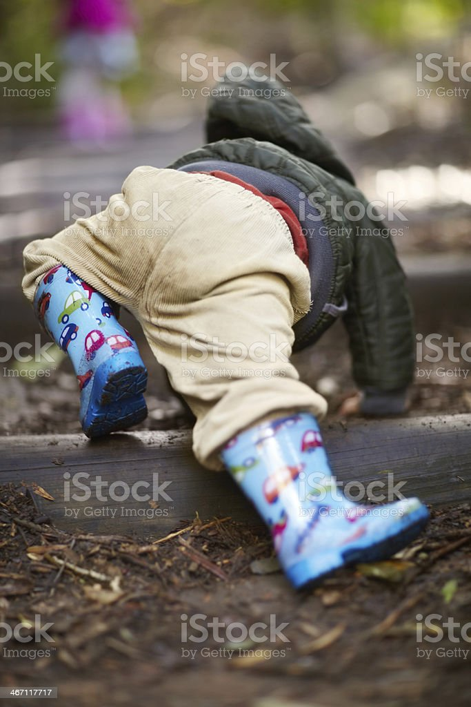 Getting back down to earth royalty-free stock photo
