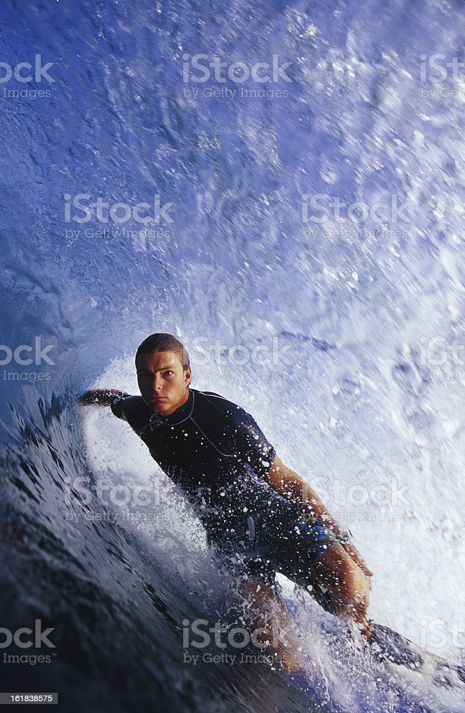getting barrelled royalty-free stock photo