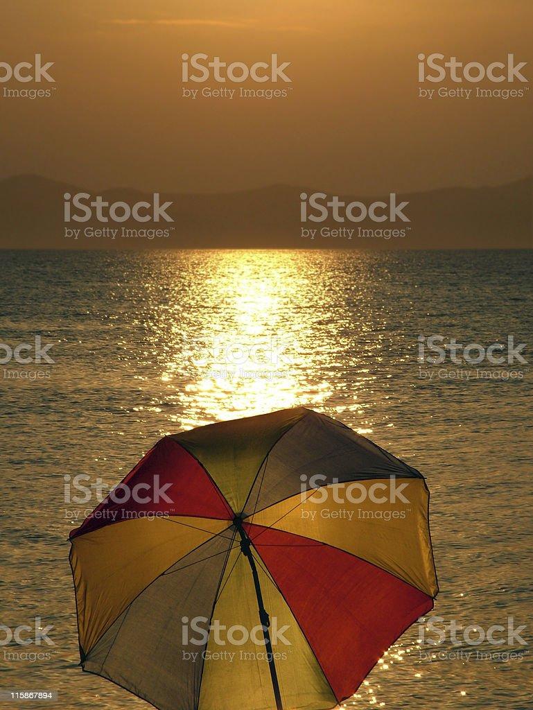 Getting dark at beach royalty-free stock photo