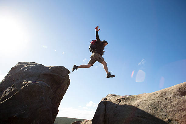 getting down is the hard bit - sauter photos et images de collection