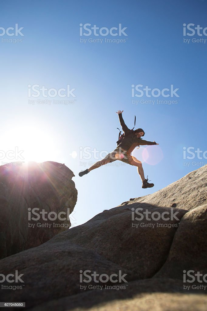 Getting Down is the Hard Bit stock photo