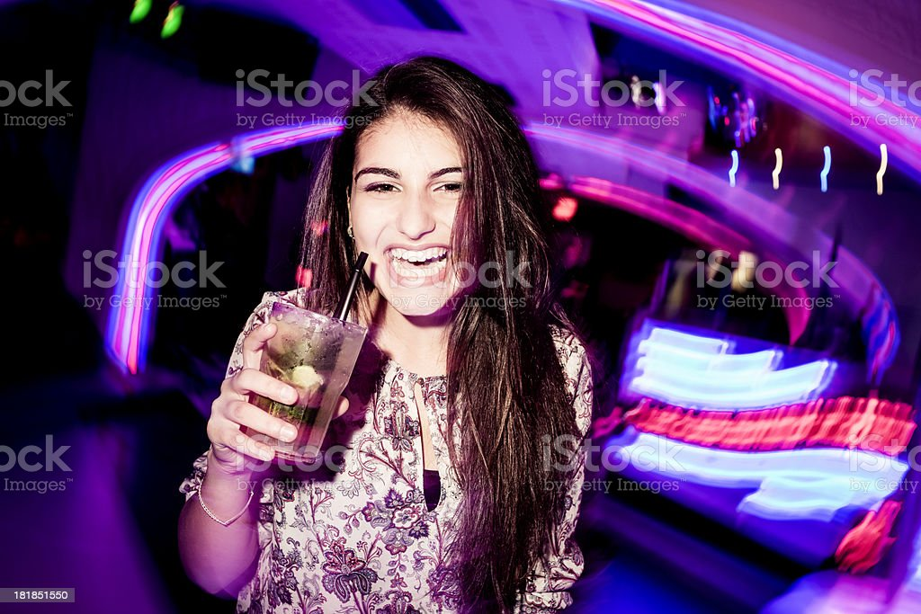 Getting drunk at the party royalty-free stock photo