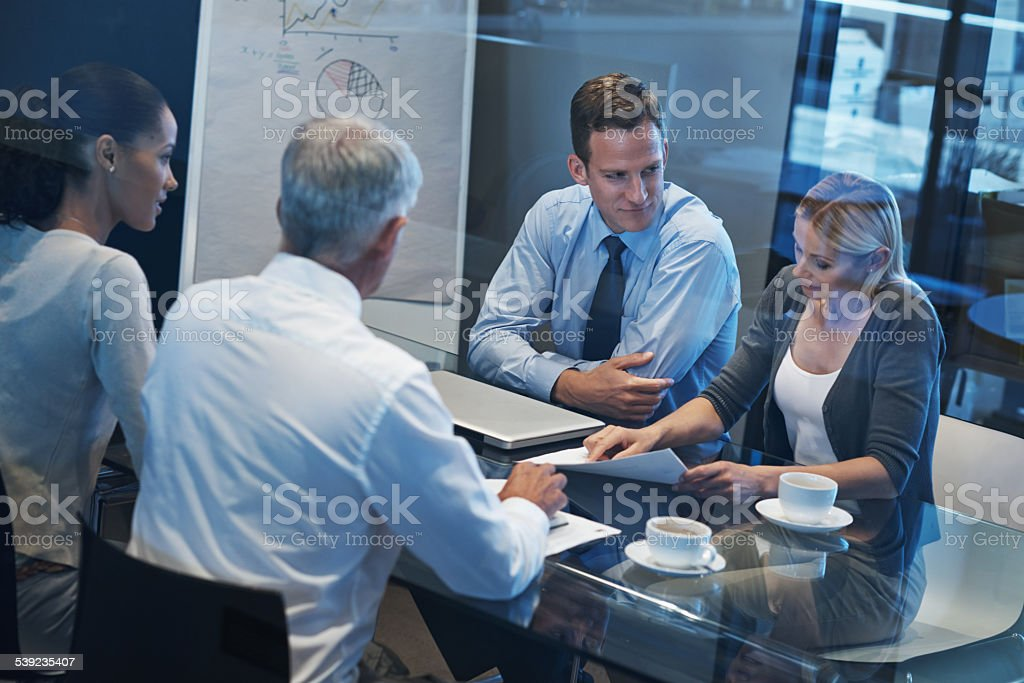 Getting everyone's opinion royalty-free stock photo