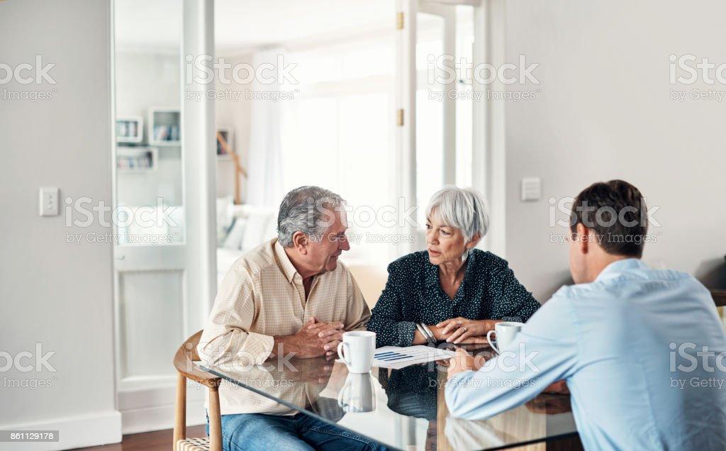 Immer professionelle Finanzberatung zu helfen, durch Alter – Foto