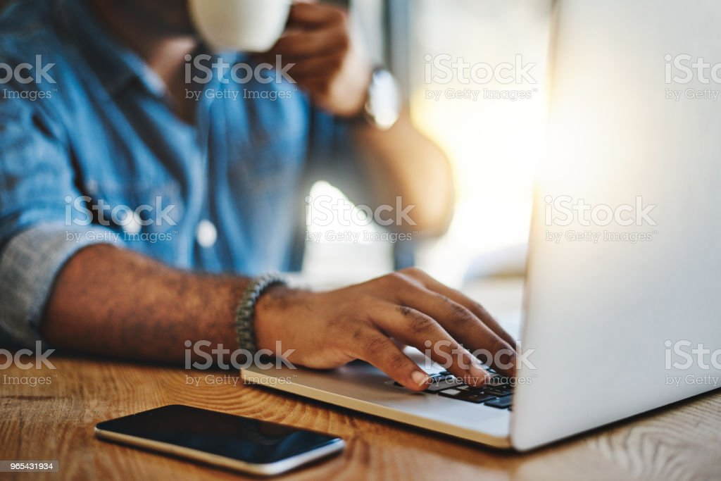 Getting extra work done out of the office royalty-free stock photo