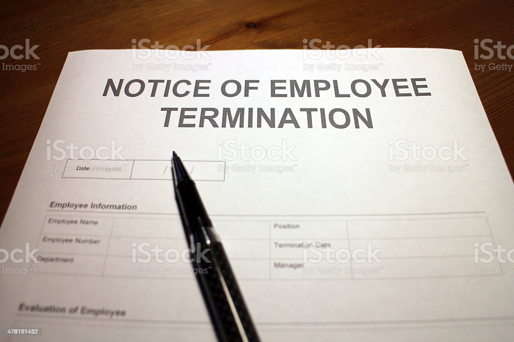 Getting fired from a job stock photo