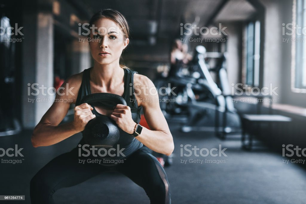 Getting fit one lift at a time stock photo