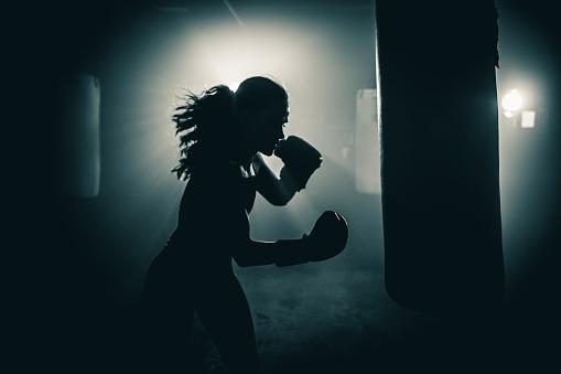Getting Fit With Boxing - Fotografie stock e altre immagini di Adulto