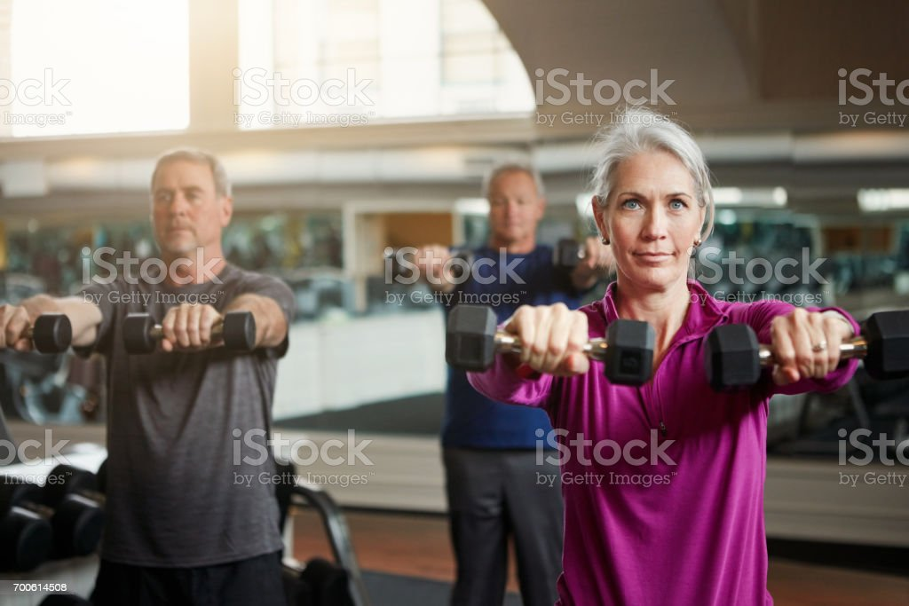 Getting fit with friends is the best fun to have stock photo