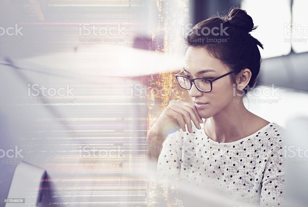 Getting focused on the project stock photo