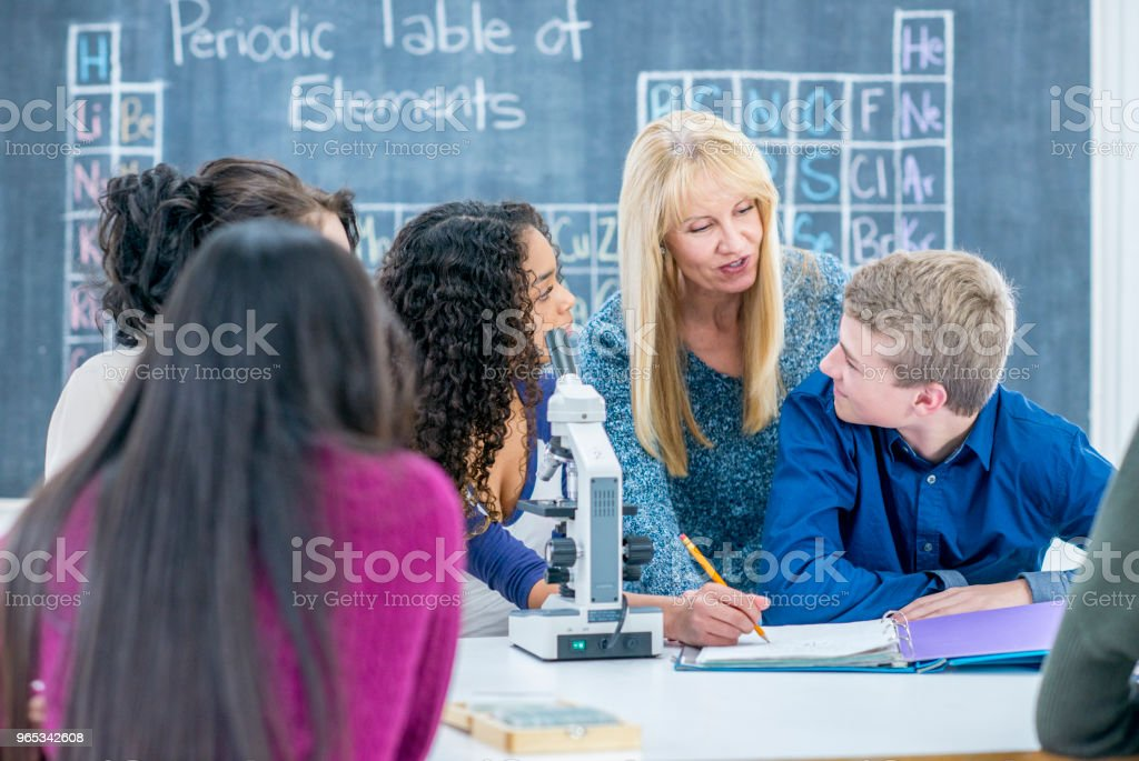 Getting Help From A Teacher royalty-free stock photo
