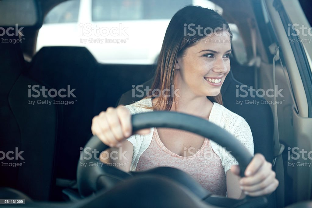 Getting her license was the best choice she made stock photo