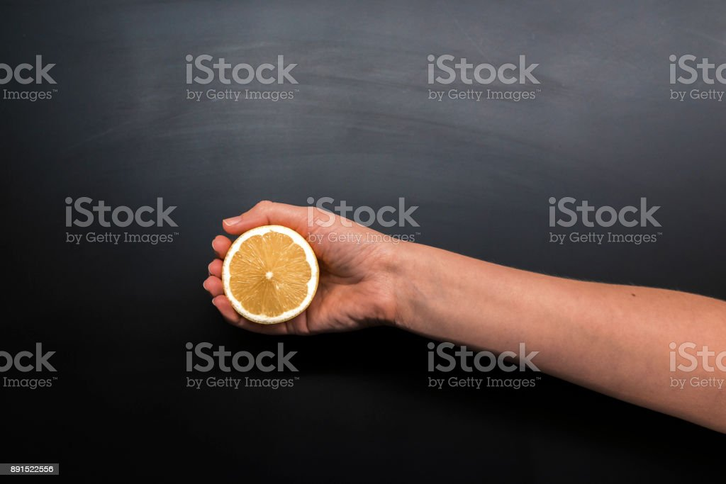 getting her Vitamin C alright! stock photo